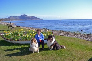Marilyn with Rough Collies