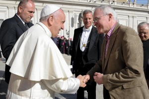 Presbytery Moderator meets Pope Francis, April 2016